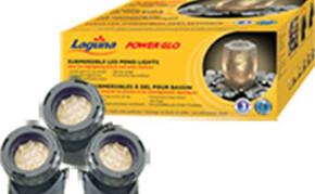 Pond supplies: pond lights: PowerGlo Submersible 12 LED mini Pond Lights