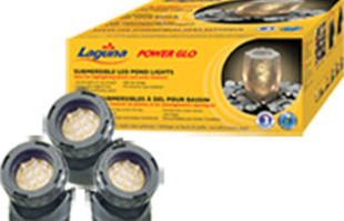 Pond supplies: pond lights: PowerGlo Submersible 12 LED mini Pond Lights