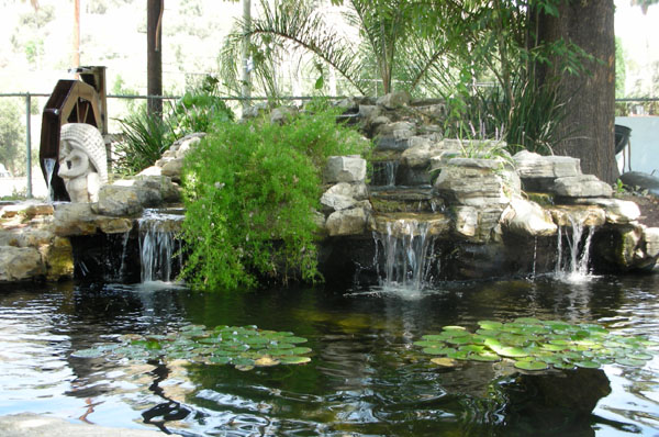 custom pond, rock waterfall, custom waterfall