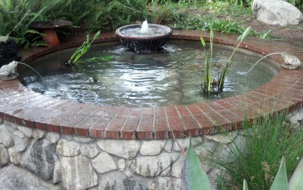 Custom pond round pond brick pond fish pond for Custom koi ponds