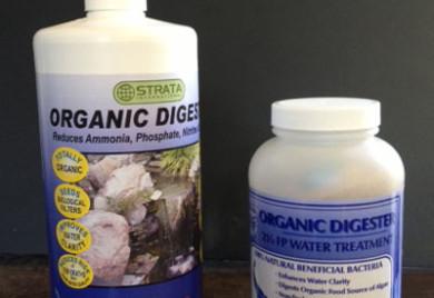 Organic digester, pond bacteria, pond supplies, Strata