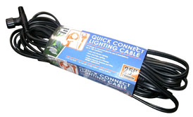 Lighting: 50' Low Voltage Cable with 10 outlets | Pond Lights