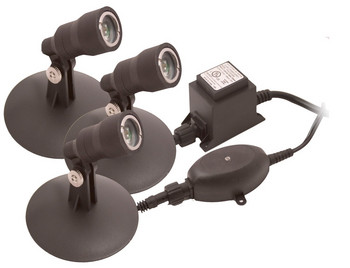 Pond Supplies: Aquascape 3 light x 1w LED Kit - Pond Lighting - Pond Supplies