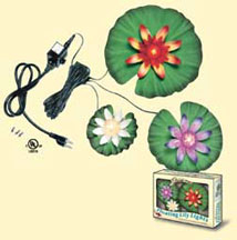 Pond Supplies: FLoating Lily Light Set - Pond Lighting - Pond Supplies