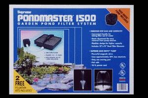 Pond Filters: Pondmaster 1500 Submersible Filter Kit | PondMaster Filters