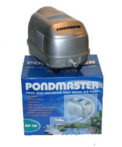 Pond supplies pondmaster deep water air pump aeration for Pond care supplies