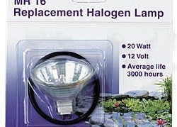 Lighting: Pondmaster Replacement Halogen Bulb 20w w/O Ring | Pond Lights