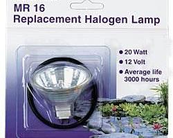Lighting: Pondmaster Replacement Halogen Bulb 20w w/O Ring | Pond Lights