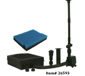 Pond Filters: Tetra FK6 Submersible Fountain & Filter Kit - Pond Pumps & Pond Filters