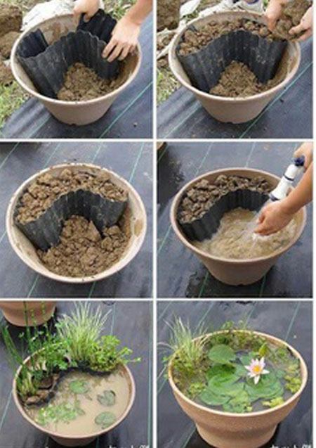 how to make a small water garden container gardens