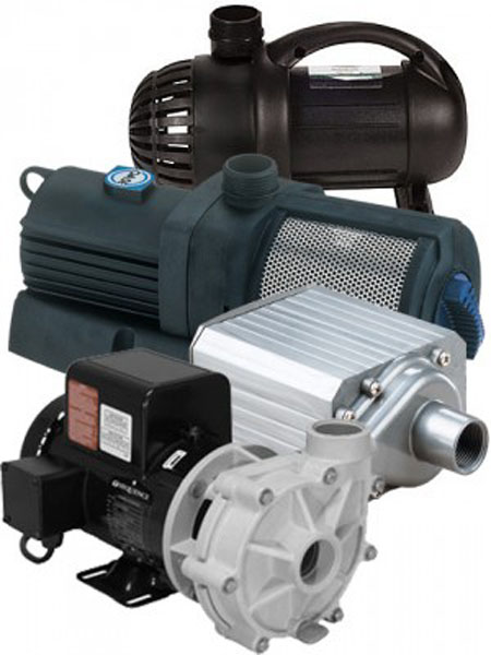 Pond pumps, pond supplies, Water pumps
