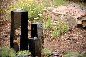 "Aquascape 3 Semi-Polished Stone Basalt Columns - Sm 12""H"