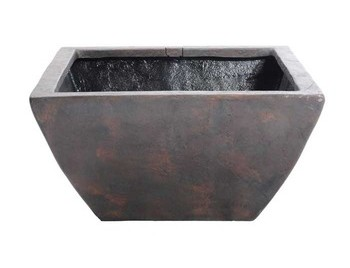 "Aquascape 40"" Square Textured Gray Slate Patio Pond - Planting Containers - Pond Plant Care - Part Number: 78051 - Aquascape Pond Supplies"