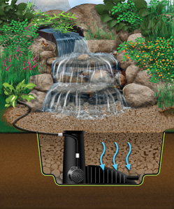 Aquascape 4'x6' MicroPondlessT Waterfall Kit - Pondless Products - Pondless Kits - Part Number: 99769 - Aquascape Pond Supplies