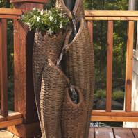 Aquascape Basket Fountain – 40″H – Decorative Water Features – Part Number: 99467 – Pond Supplies