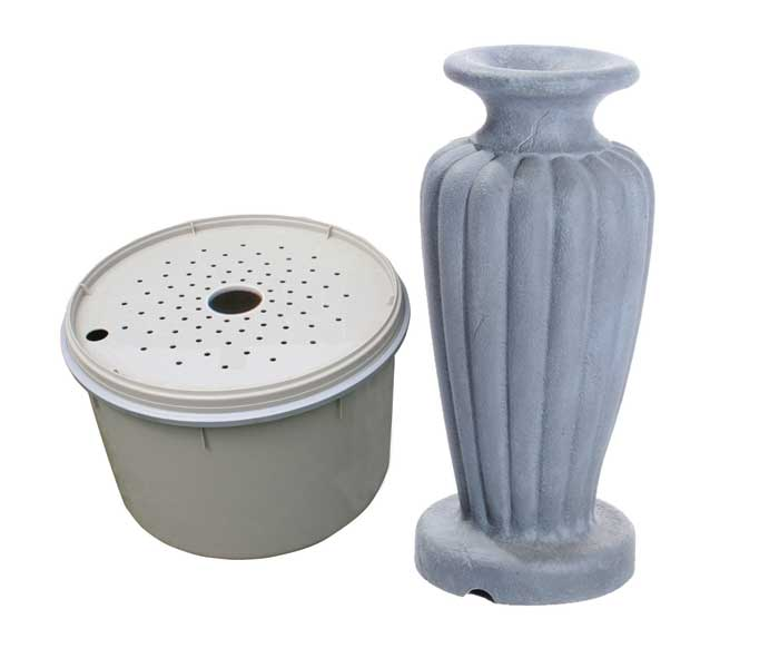 Aquascape Classic Greek Urn Fountain Kit - Large/Gray Slate - Decorative Water Features - Glass Fiber Reinforced Concrete - Part Number: 78066 - Aquascape Pond Supplies