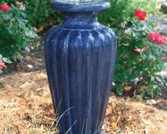 Aquascape Classic Greek Urn Fountain Kit - XLg/Gray Slate - Glass Fiber Reinforced Concrete - Decorative Water Features - Part Number: 78057 - Aquascape Pond Supplies
