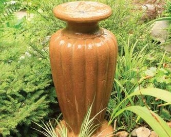 Aquascape Classic Greek Urn Fountain Kit - XLg/Powdered Terra Cotta - Glass Fiber Reinforced Concrete - Decorative Water Features - Part Number: 78054 - Aquascape Pond Supplies