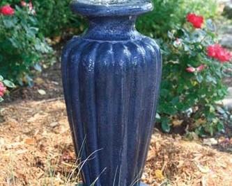 Aquascape Classic Greek Urn Fountain w/pump - Large/Gray Slate - Glass Fiber Reinforced Concrete - Decorative Water Features - Part Number: 78045 - Aquascape Pond Supplies