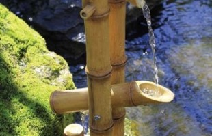 Aquascape Deer Scarer Bamboo Fountain w/pump – Decorative Water Features – Part Number: 78013 – Pond Supplies