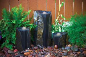 Aquascape Double Textured Basalt Cored Water Columns - Stone - Decorative Water Features - Part Number: 98548 - Aquascape Pond Supplies
