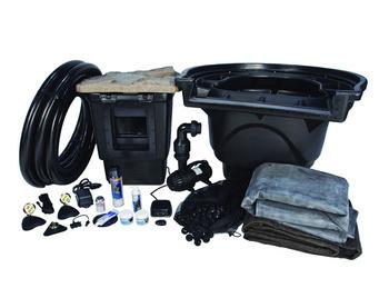 Aquascape large 21 x 26 pond kit w aquasurge pro 4000 for Pond kits supplies