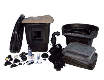 Aquascape medium 11 x 16 pond kit w aquasurge pro 2000 for Pond kits supplies