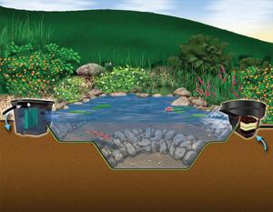 Aquascape MicroPond® Kit 6'x8' (500 Gallons) - Pond Kits - Pond and Pondless Kits - Aquascape Pond Supplies - Part Number: 99764