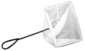 "Aquascape Mini Skimmer Net with Twisted Handle 10"" x 7"" - Fish Nets - Fish Care & Food - Part Number: 98557 - Aquascape Pond Supplies"
