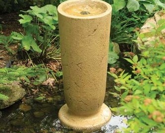 Aquascape Modern Classic Fountain Kit - XLg/Crushed Coral - Glass Fiber Reinforced Concrete - Decorative Water Features - Part Number: 78058 - Aquascape Pond Supplies
