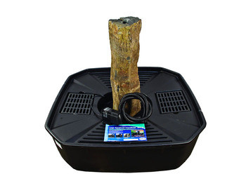 Aquascape Mongolian Basalt Fountain Kit (GYFW) - Stone - Decorative Water Features - Part Number: 58065 - Aquascape Pond Supplies