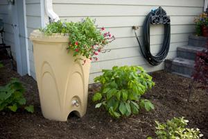 Aquascape Sandstone Rain Barrel - Rainwater Harvesting - Rain Barrels - Part Number: 98767 - Aquascape Pond Supplies