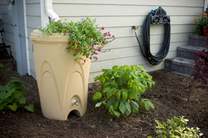Aquascape Sandstone Rain Barrel - Promo Items - Rainwater Harvesting - Part Number: 98767 - Aquascape Pond Supplies
