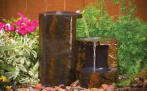 Aquascape Set Of 3 Keyed Basalt Columns - Decorative Water Features - Part Number: 98552 - Pond Supplies