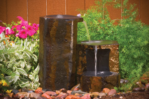 Aquascape Set Of 3 Keyed Basalt Columns - Stone - Decorative Water Features - Part Number: 98552 - Aquascape Pond Supplies