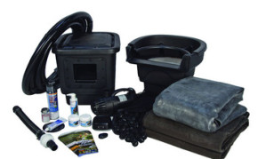 Aquascape Small 8' x 11' Pond Kit w/AquaSurge® 3000 (GYFW) - Pond and Pondless Kits - Part Number: 53008 - Pond Supplies