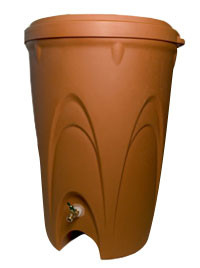 Aquascape Terra Cotta Rain Barrel - Rain Barrels - Rainwater Harvesting - Part Number: 98766 - Aquascape Pond Supplies