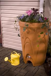 Aquascape Terra Cotta Rain Barrel - Rainwater Harvesting - Rain Barrels - Part Number: 98766 - Aquascape Pond Supplies