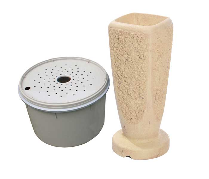 Aquascape Textured Ripple Fountain Kit - Large/Crushed Coral - Decorative Water Features - Glass Fiber Reinforced Concrete - Part Number: 78068 - Aquascape Pond Supplies