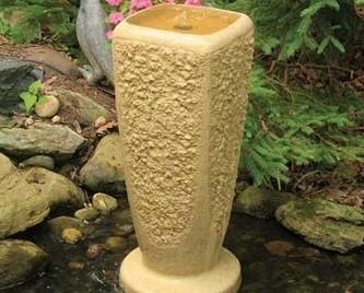 Aquascape Textured Ripple Fountain w/pump - Large/Crushed Coral - Glass Fiber Reinforced Concrete - Decorative Water Features - Part Number: 78047 - Aquascape Pond Supplies