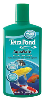 Pond Water Care: Tetra Aqua Safe | Chlorine/Ammonia Control Learn more about Pond Supplies, Pond Care & Maintenance, Water Care, Chlorine/Ammonia Control and Pond Maintenance at SunlandWaterGardens.com
