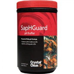 Pond Water Care: Crystal Clear SapHGuard - pH Buffer | pH Control Learn more about Pond Supplies, Pond Care & Maintenance, Water Care, pH Control and Pond Maintenance at SunlandWaterGardens.com