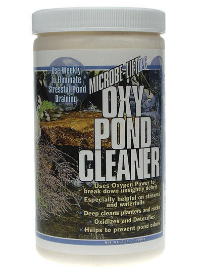 Pond Water Care: Oxy Pond Cleaner by Microbe-lift | Algae Control Learn more about Pond Supplies, Pond Care & Maintenance, Water Care, Algae Control and Pond Maintenance at SunlandWaterGardens.com
