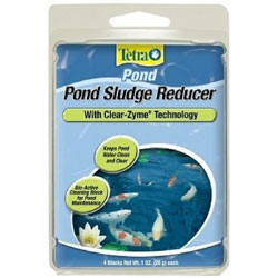 Pond Water Care: Tetra Sludge Reducer 4 pk (formerly Jungle CLearZyme)) | Algae Control Learn more about Pond Supplies, Pond Care & Maintenance, Water Care, Algae Control and Pond Maintenance at SunlandWaterGardens.com