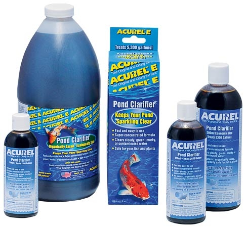Pond Water Care: Acurel-E | Algae Control Learn more about Pond Supplies, Pond Care & Maintenance, Water Care, Algae Control and Pond Maintenance at SunlandWaterGardens.com