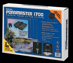 Pond Filters: Pondmaster 1700 Submersible Filter Kit | Submersible Pond Filters Learn more about Pond Supplies, Pumps & Filters, Pond Filters, Submersible Pond Filters and Pond Pumps & Pond Filters at SunlandWaterGardens.com
