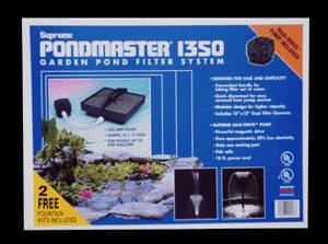 Pond Filters: Pondmaster 1350 Submersible Filter Kit | PondMaster Filters Learn more about Pond Supplies, Pumps & Filters, Pond Filters, PondMaster Filters and Pond Pumps & Pond Filters at SunlandWaterGardens.com