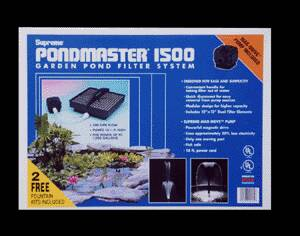 Pond Filters: Pondmaster 1500 Submersible Filter Kit | PondMaster Filters Learn more about Pond Supplies, Pumps & Filters, Pond Filters, PondMaster Filters and Pond Pumps & Pond Filters at SunlandWaterGardens.com