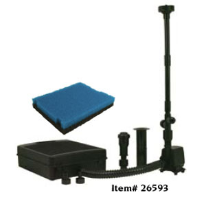 Pond Filters: Tetra FK5 Submersible Filter & Fountain Kit   Tetra Pond Filters Learn more about Pond Supplies, Pumps & Filters, Pond Filters, Tetra Pond Filters and Pond Pumps & Pond Filters at SunlandWaterGardens.com