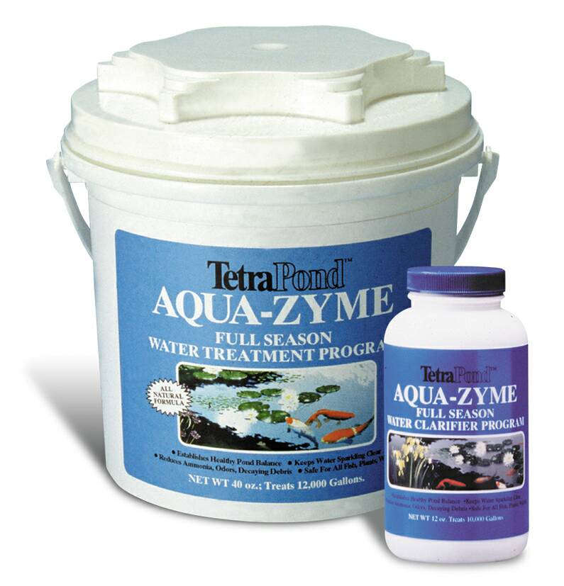Pond maintenance tetra sludge reducer formerly aqua zyme for Garden pond supplies
